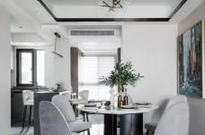 135㎡现代轻奢风婚房,堪比效果图!黑白灰营造极简质感!图_6