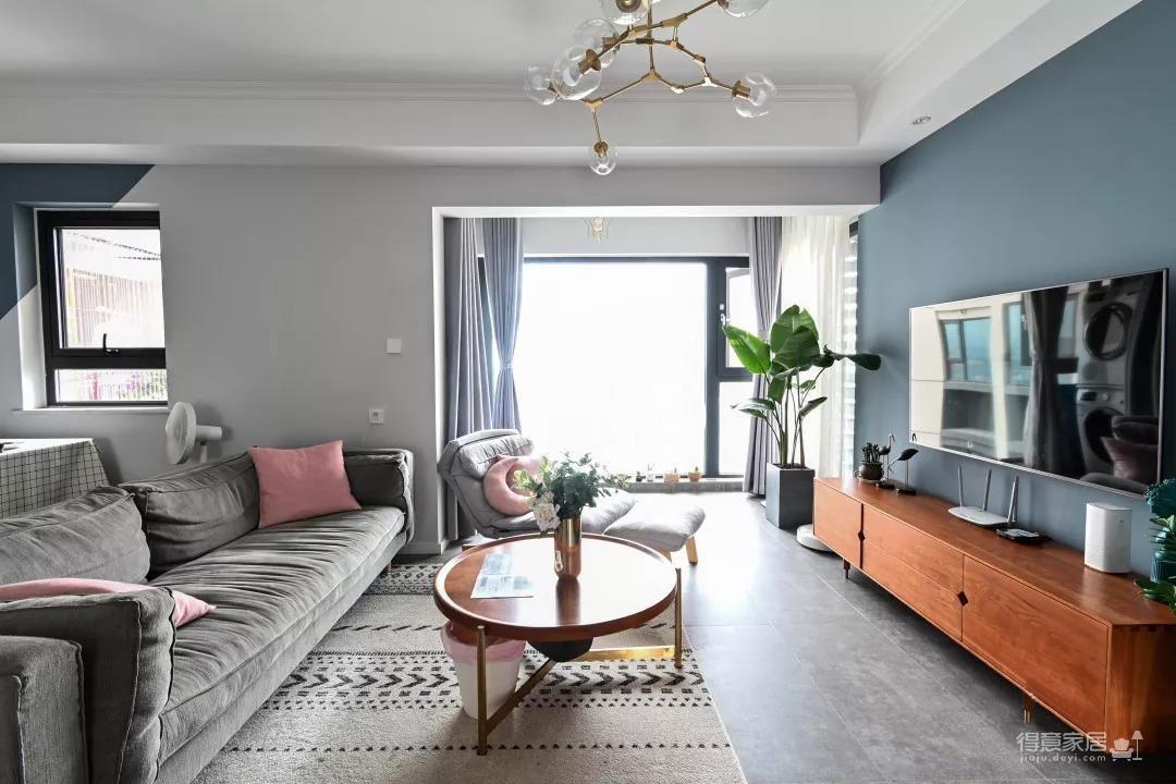 96㎡温馨北欧风格装修,舒适居家的小资生活!图_3