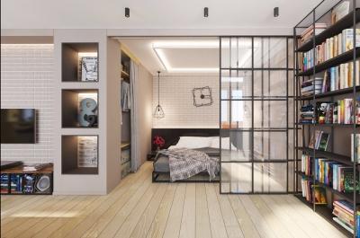 超现代北欧混搭工业风86㎡两居室