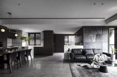 黑色+木质元素,一个简洁、大气、惬意的家~