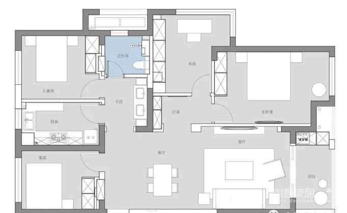 115㎡的现代轻奢风,精选的沙发背景美了整个家!图_2