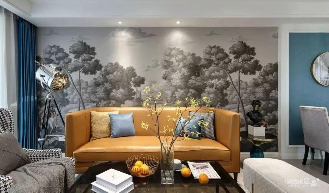 115㎡的现代轻奢风,精选的沙发背景美了整个家!图_1