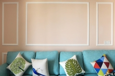 110平三室两厅粉色简美图_6