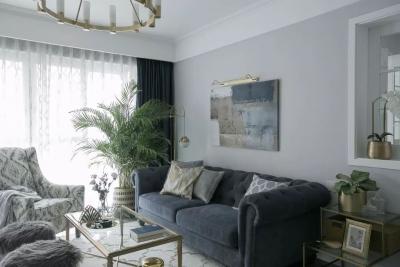 137㎡三室两厅轻奢北欧风,营造轻盈浪漫的小资情调!