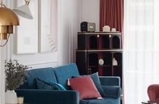 色彩明艳的105平现代简约时尚3居图_3