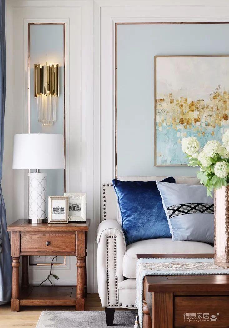 124㎡美式风格装修效果,打造轻奢文艺的家!图_6