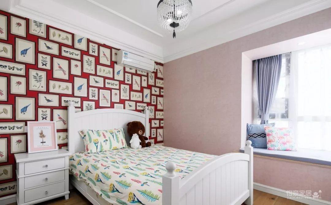 124㎡美式风格装修效果,打造轻奢文艺的家!图_13