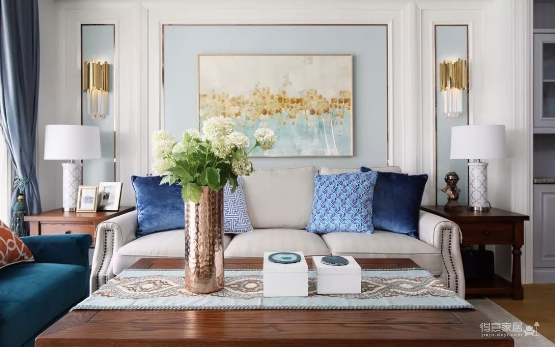 124㎡美式风格装修效果,打造轻奢文艺的家!图_4