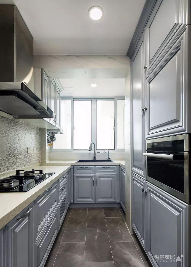 124㎡美式风格装修效果,打造轻奢文艺的家!图_10