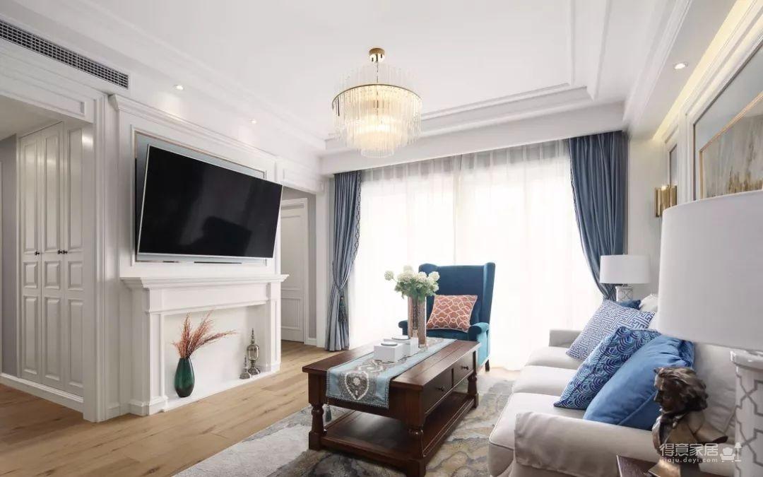 124㎡美式风格装修效果,打造轻奢文艺的家!图_3