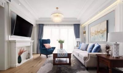 124㎡美式风格装修效果,打造轻奢文艺的家!
