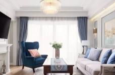 124㎡美式风格装修效果,打造轻奢文艺的家!图_1