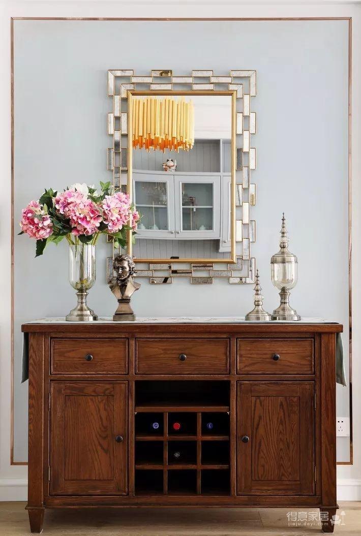 124㎡美式风格装修效果,打造轻奢文艺的家!图_9
