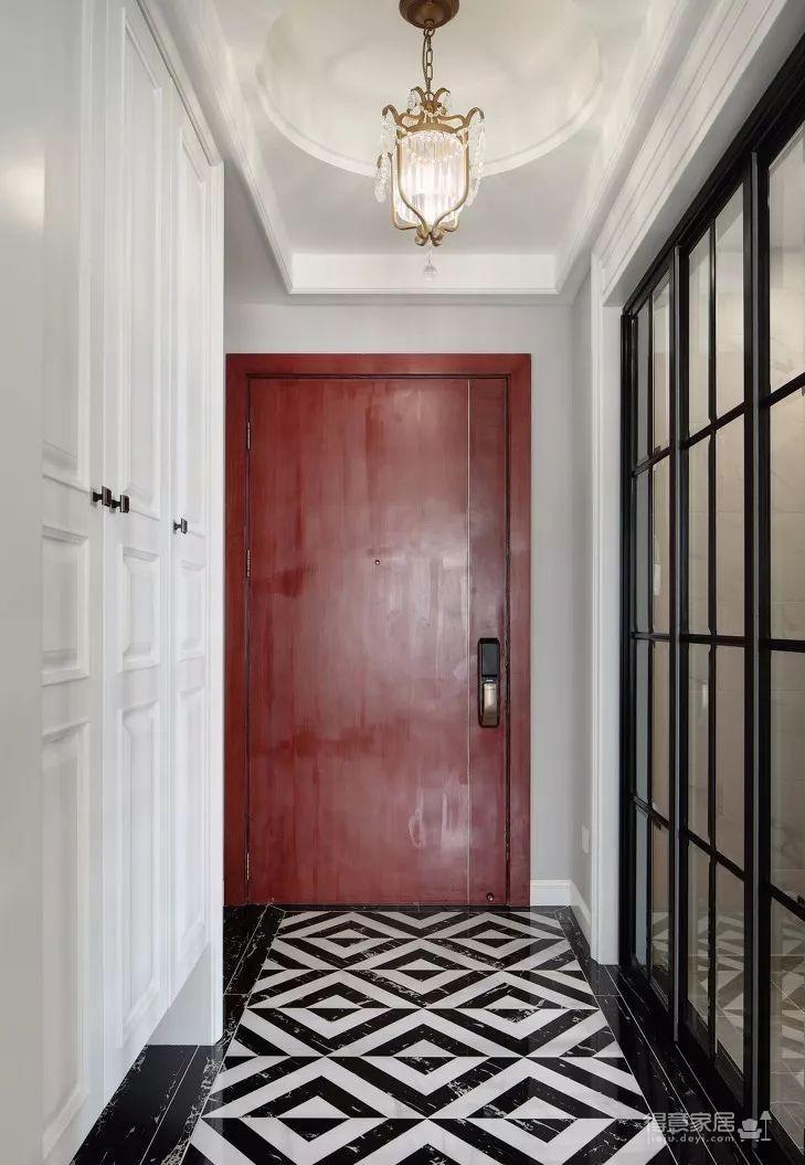 124㎡美式风格装修效果,打造轻奢文艺的家!图_2