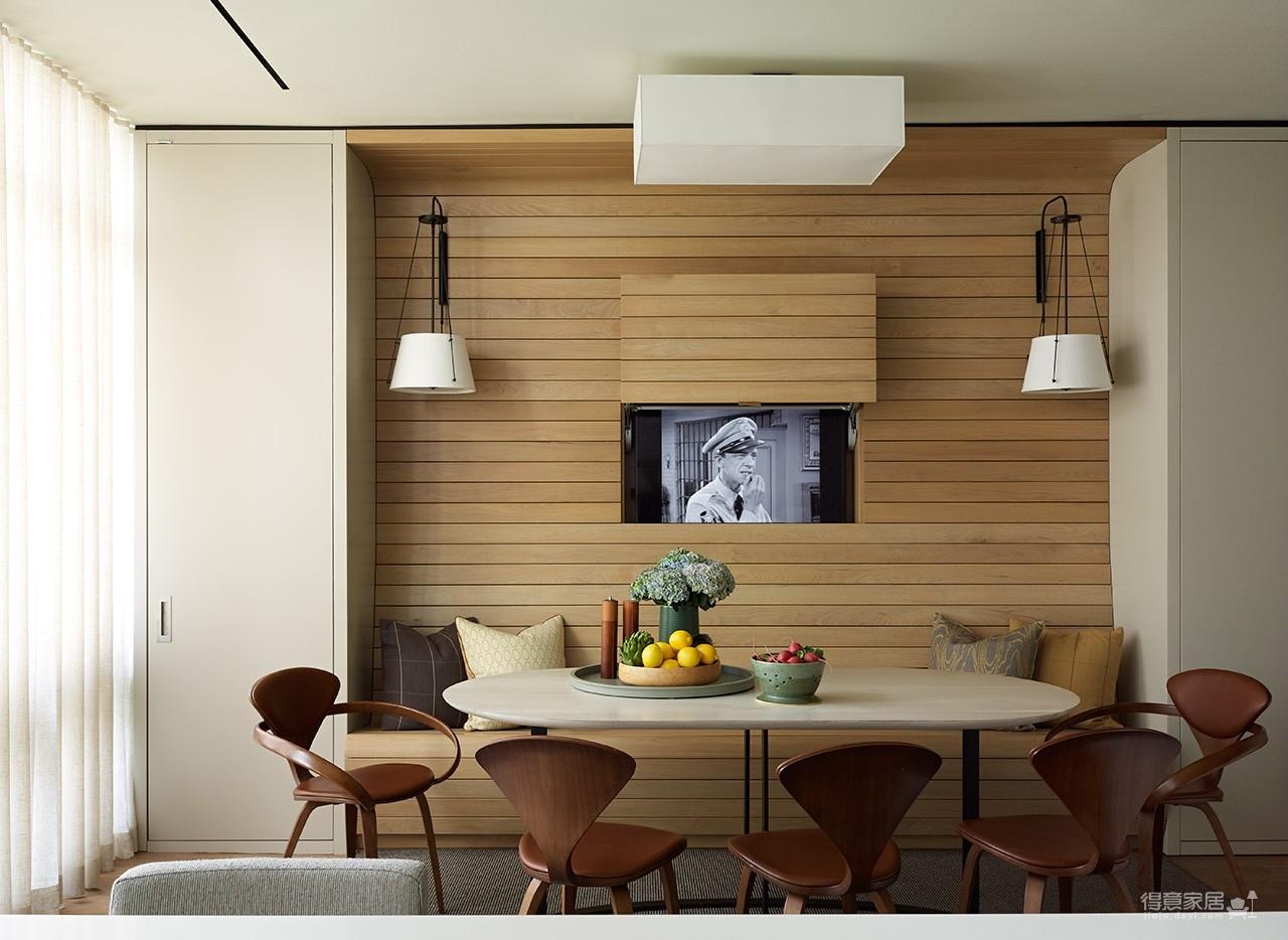 """纽约翠贝卡阁楼公寓设计,电视机被完美""""镶嵌""""!"""