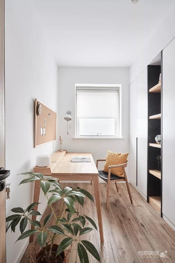 98㎡文艺范儿北欧风格三居室装修设计,用白墙与原木共同打造的一个温暖惬意的舒适美居
