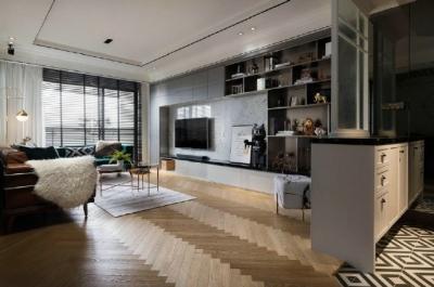 现代美式风格家居装修设计,色调搭配很舒服,精致优雅的时尚美宅