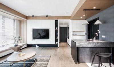 89㎡简约现代风二居室装修设计,喜欢这种惬意休闲的舒适