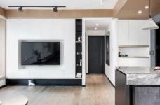 89㎡简约现代风二居室装修设计,喜欢这种惬意休闲的舒适图_1