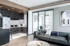 89㎡简约现代风二居室装修设计,喜欢这种惬意休闲的舒适图_5