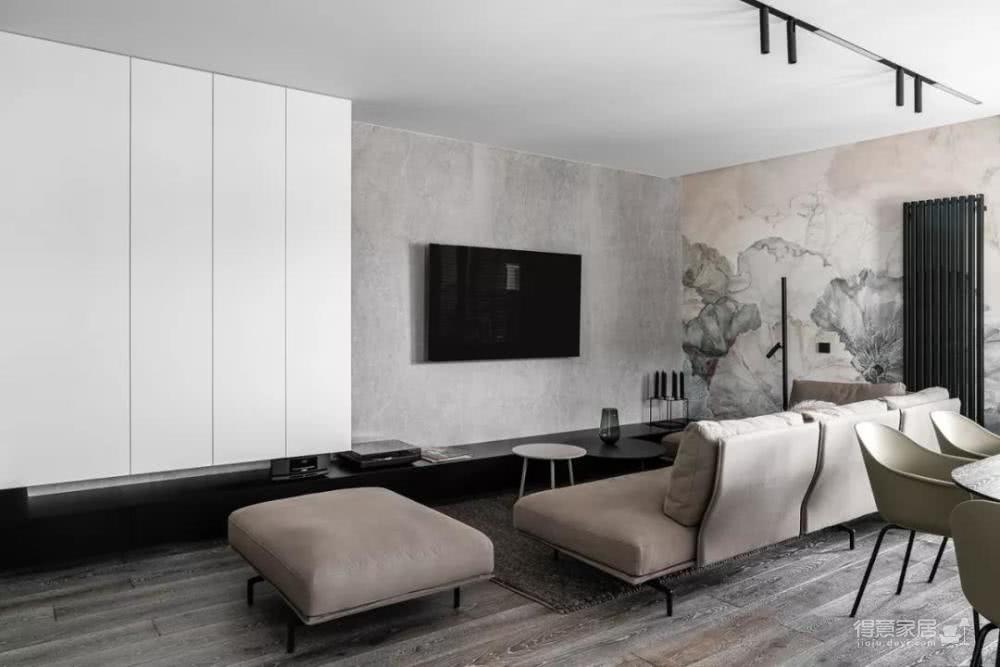 90平米客厅用水墨画做背景 太有意境了图_2
