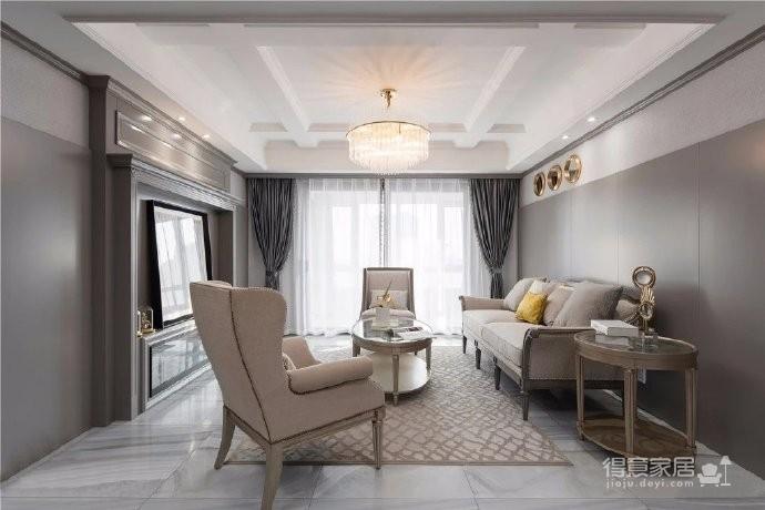 轻奢美式风格遇上高级灰,打造一个恰到好处的优雅安宁空间