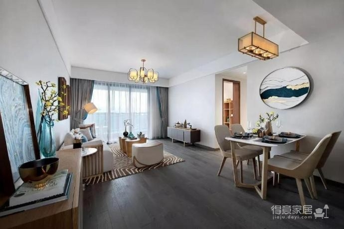 100㎡极简新中式三居室