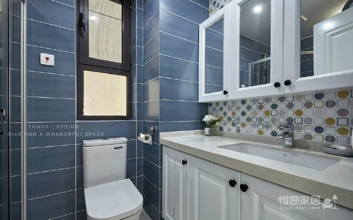 90㎡现代美式混搭风三居室,清新的海天蓝与抹茶绿,充分体现了主人对生活的热爱! 