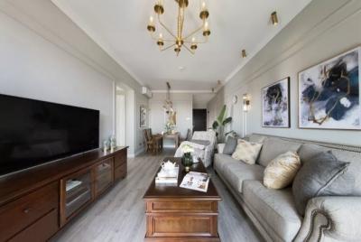 119㎡美式风格,呈现完美的装修格调,简约小美式空间轻盈优雅。