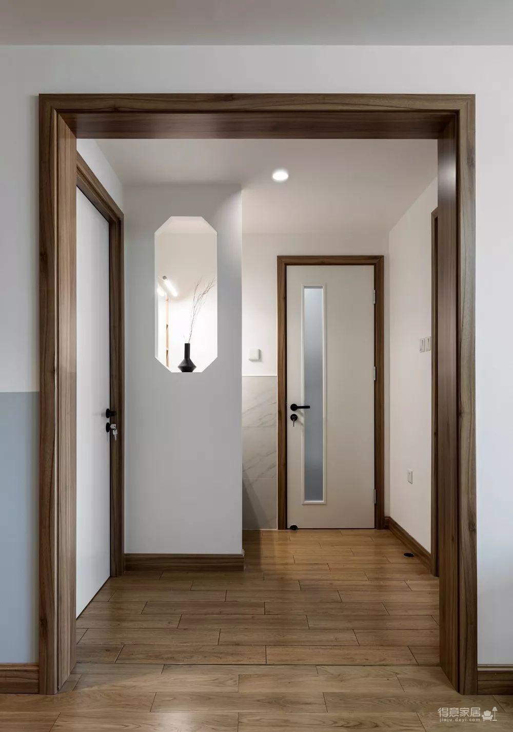 94㎡新中式装修,清新淡雅的色调、格栅屏风、八角格窗,诗意深厚!