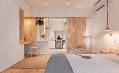 45㎡狭长小户型改造,一眼望穿的家多出4间房!