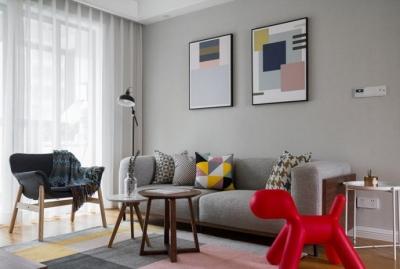 96㎡简约北欧风格家居设计,素雅柔和、温馨舒适
