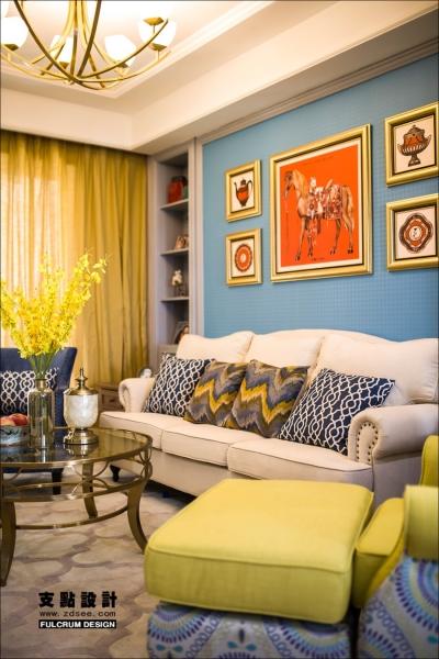 潋一室幽蓝,守一室繁华——133平现代美式