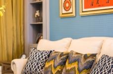 潋一室幽蓝,守一室繁华——133平现代美式图_1