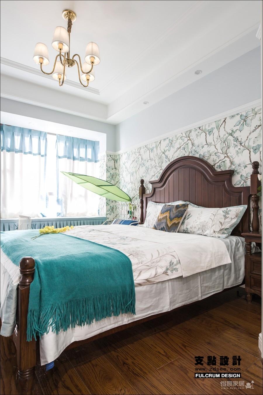 潋一室幽蓝,守一室繁华——133平现代美式图_8