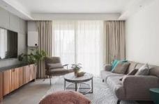 105㎡简约混搭风格家居,灰色与原木色总是那么搭,舒服图_1