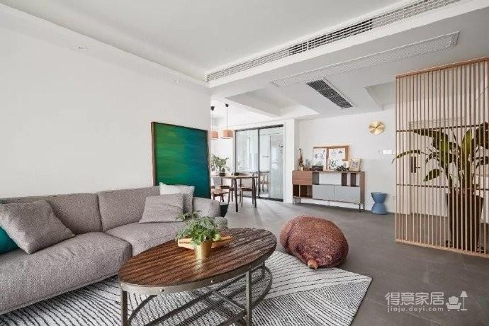 105㎡简约混搭风格家居,灰色与原木色总是那么搭,舒服图_2