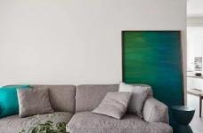 105㎡简约混搭风格家居,灰色与原木色总是那么搭,舒服图_3