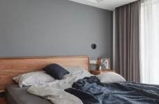 105㎡简约混搭风格家居,灰色与原木色总是那么搭,舒服图_5