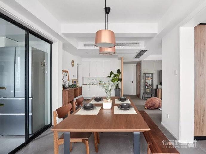 105㎡简约混搭风格家居,灰色与原木色总是那么搭,舒服图_6