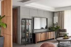 105㎡简约混搭风格家居,灰色与原木色总是那么搭,舒服图_4