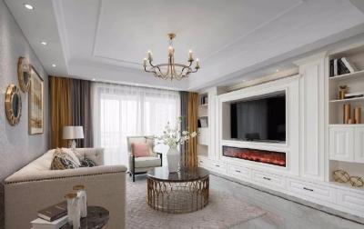 简约美式风格家居装修设计,一种精致典雅的轻奢舒适感空间