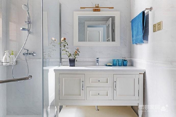 115㎡现代美式风格家居,浅蓝色让这个家格外清爽温馨