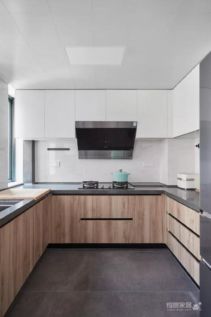 105㎡简约混搭风格家居,灰色与原木色总是那么搭,舒服图_7