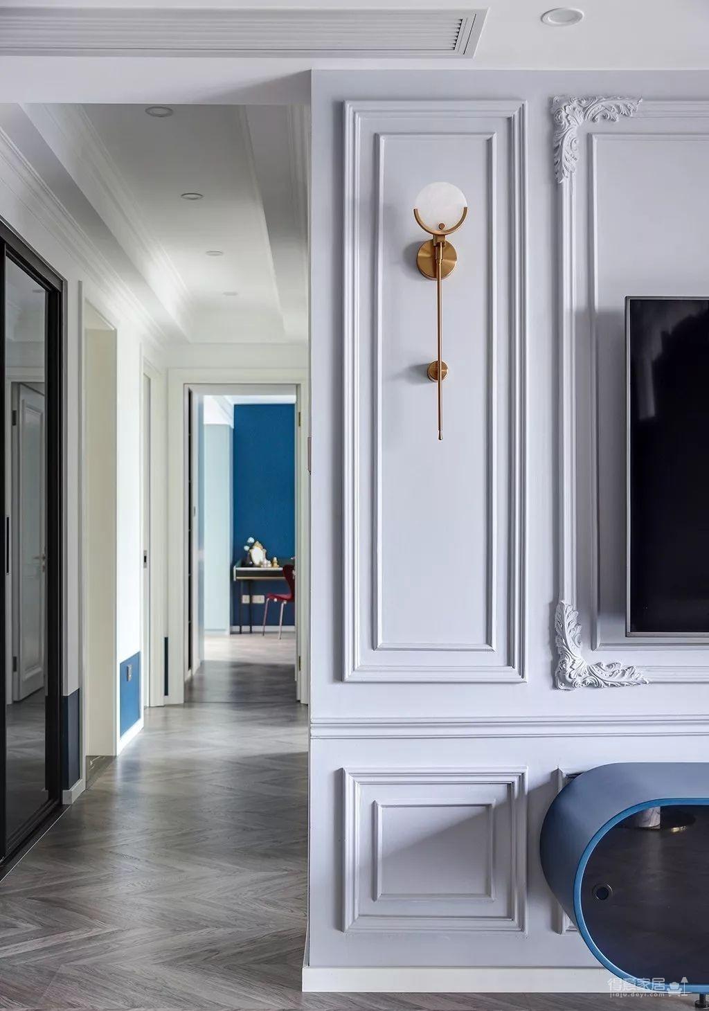 143㎡法式轻奢风格装修,加点色彩、添点格调,美得更高级!图_14