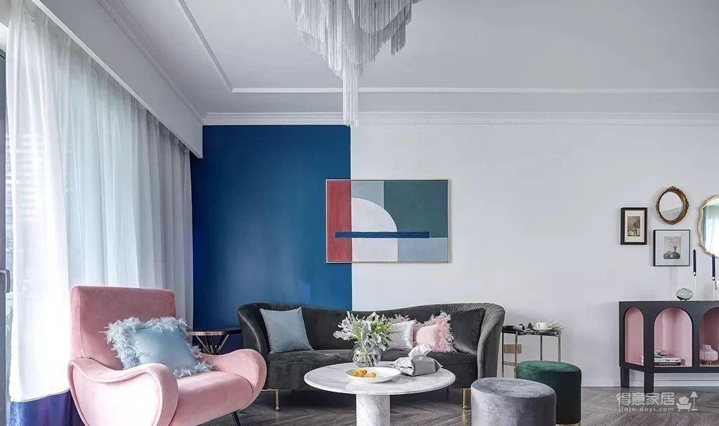 143㎡法式轻奢风格装修,加点色彩、添点格调,美得更高级!图_1