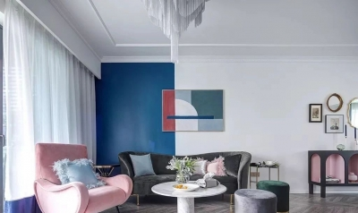 143㎡法式轻奢风格装修,加点色彩、添点格调,美得更高级!