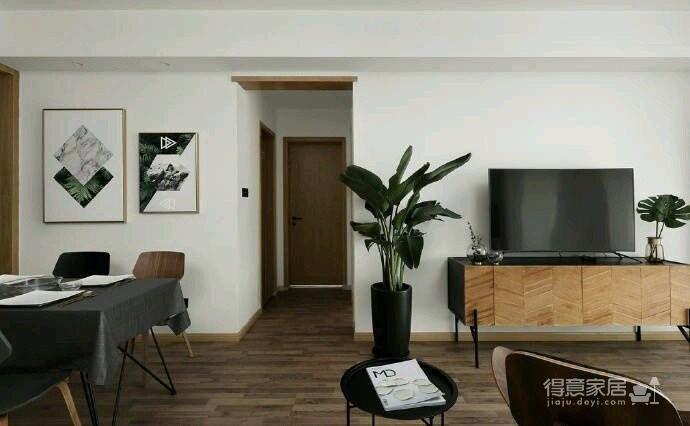 80平现代简约两居室,原木风好温暖!图_12
