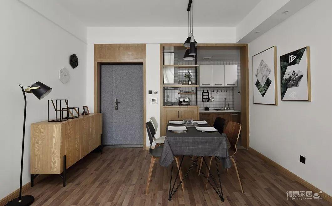 80平现代简约两居室,原木风好温暖!图_20