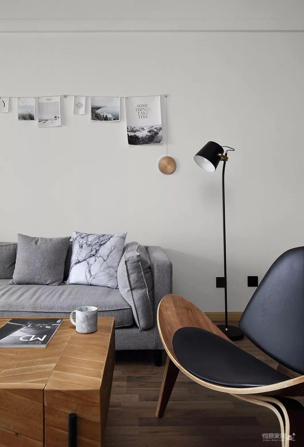 80平现代简约两居室,原木风好温暖!图_3